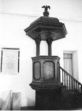 Interior Pulpit, Pompion Hill Chapel